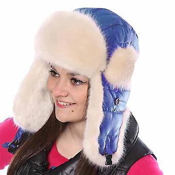 Nieuwe dames gewatteerde shell & bont trim Trapper warme winter thermische hoed