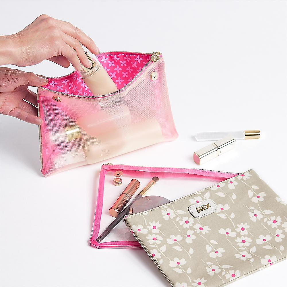 'victoria green' amy 3 in 1 makeup wallet in floral sage
