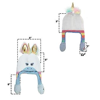 ABG Accessories Girls' Little Unicorn Squeeze and Flap, White/Blue, Size Age 4-7