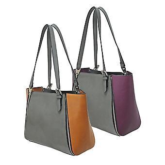 Envy Bags Envy 172 Zip Top Shoulder Bag With Interchangeable Panels Grey