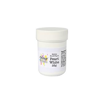 Kleuren splash eetbare verf parel wit