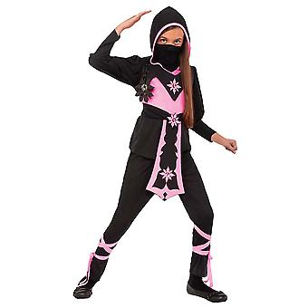 Pink Crystal Ninja Stealth Assassin Japanese Warrior Book Week Girls Costume