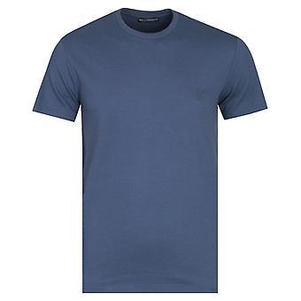 Emporio Armani Logo Back Print Navy T-Shirt