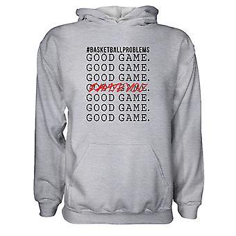 Herre Sweatshirts Hættetrøje- #Basketballproblems - Godt spil - Jeg hader dig