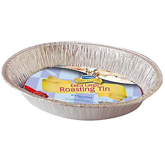 Kingfisher Extra Large Oval Foil Roasting Tin 46 x 34 x 8.7cm