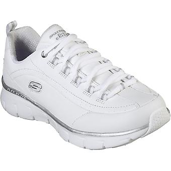 Skechers Womens Synergy 3.0 Lace Up Leather Sports Trainers