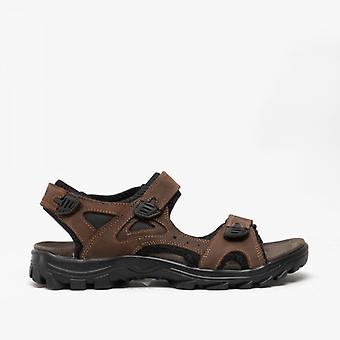 Roamers Irvine Herre læder vandreture sandaler brun