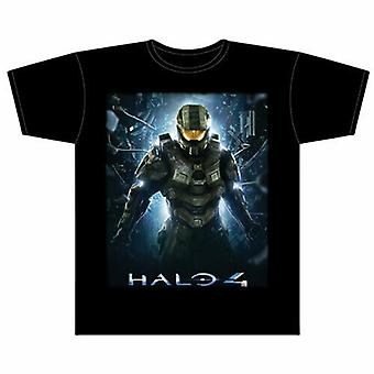 Halo 4 Master Chief Black Male T-Shirt