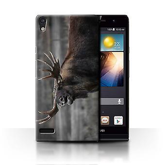 STUFF4 Fall/Abdeckung für Huawei Ascend P6/Moose/Bull/Nordamerika Tiere