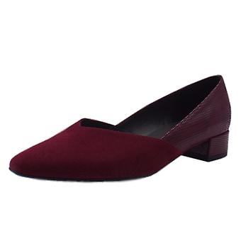 Peter Kaiser Shade Chic Low Heel Court Shoes In Jam Suede