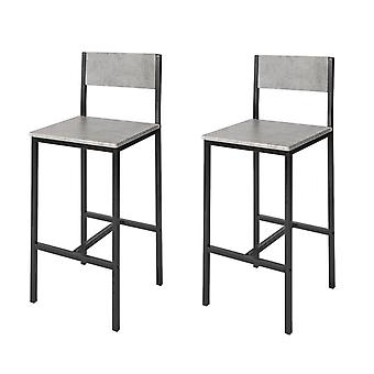 SoBuy FST53-HGx2, Set of 2 Bar Stools,  Breakfast Bar Stools Barstools High Chairs
