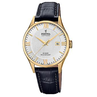 Festina Swiss F20010-2 Swiss Made Men's Silver Tone Dial Wristwatch