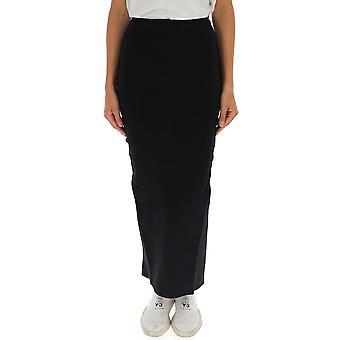 Rick Owens Rp19f5674kst09 Women's Black Viscose Skirt