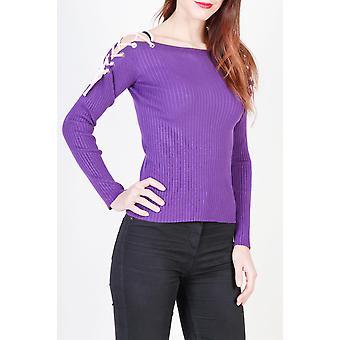 Pinko Original Frauen ganzjährig Pullover - violett Farbe 30621