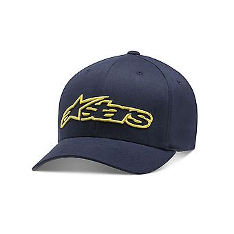 Alpinestars Mens Cap ~ Blaze Flexfit navy/yellow