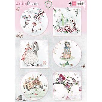 Marianne Design 3D Decoupage sheets Wedding Dreams EWK1266 A4
