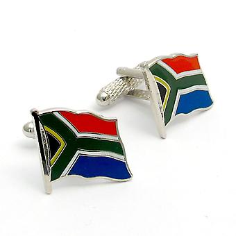 South African Flag Cufflinks by Onyx Art - Gift Boxed - South Africa Cuff Links
