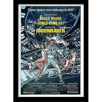 James Bond 007 Moonraker Yksi arkki kehystetty levy 30 * 40cm