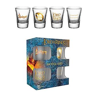 Lord of the Rings Ring Shot Glass 4-Pack