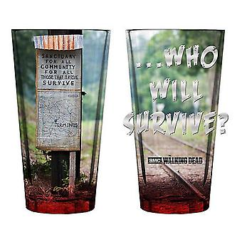 Walking Dead Terminus Pint Glass