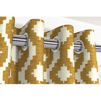 Mcalister textiles arizona rideaus géométriques jaune moutarde