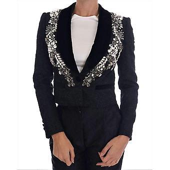 Dolce & Gabbana svart Brocade Crystal Blazer - JKT1468912