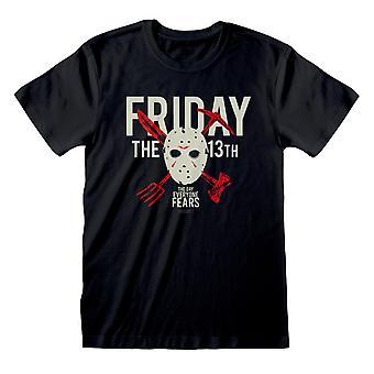 Womens Friday de 13e Boyfriend Fit T Shirt De dag waar iedereen bang voor is