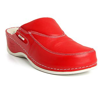 Batz FC10 High Quality Leather Womens Ladies Slip-on Clogs