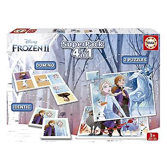 Set of 4 Games Frozen Educa