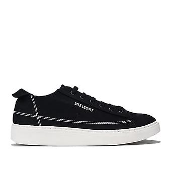 Men's Lyle And Scott Shankly Canvas Pumps in Black