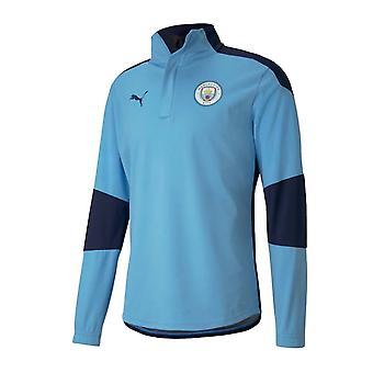 2020-2021 Manchester City Puma Training Rain Top (Blue)