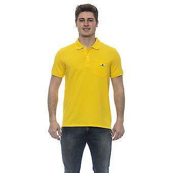 Karl Lagerfeld Yellow Polo Shirt With Front Pocket On Chest. Logo