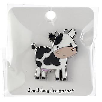 Doodlebug Collectible Enamel Pin-Cow