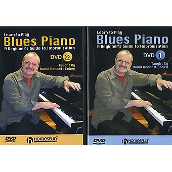 Learn to Play Blues Piano - Learn to Play Blues Piano: A Beginner's Guide to Improvisation, Vols. 1 & 2 [2 Discs] [DVD] USA import