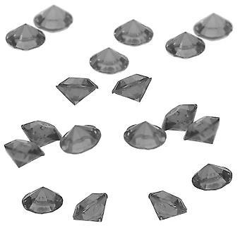 87 Acryl 12mm Diamante Tisch Streuung für Hochzeiten und Partys - schwarzer Quarz