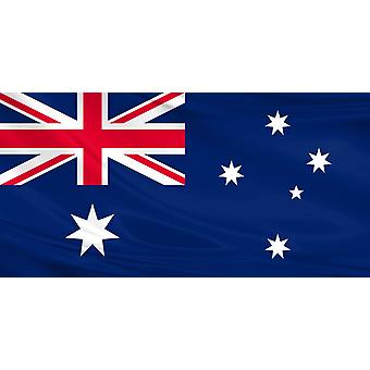 Pack of 3 Australia Flag 3ft x 5ft Polyester Fabric Football Rugby Country