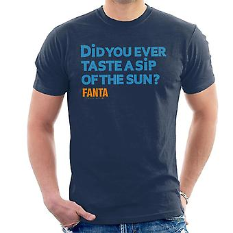 Fanta saborear um gole do sol retro Men ' s T-shirt