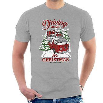 Volkswagen rijden thuis voor kerstmannen ' s T-shirt