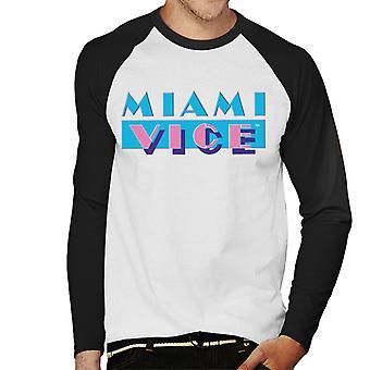 Miami Vice Classic logo mannen ' s honkbal lange mouwen T-shirt