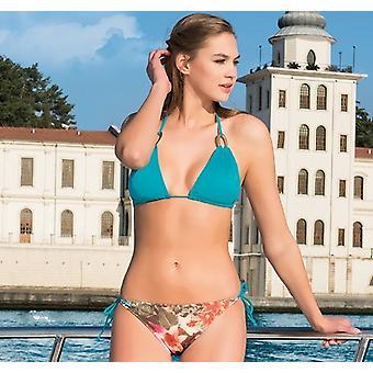 Aqua Perla Womens Tropical Multicolor Bikini Bottom