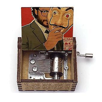 El Professor Bella Ciao Hand Crank Vintage Wooden Music Box
