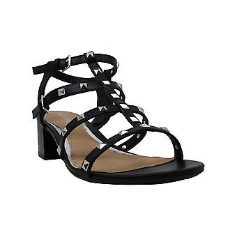 Rampage Women's Milty Heeled Studded Dress Sandals met Studs 11 Zwart