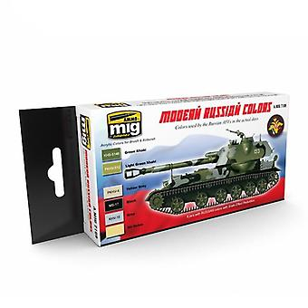 Ammo by Mig Modern Russian Camo Colors Acrylic Paint Set
