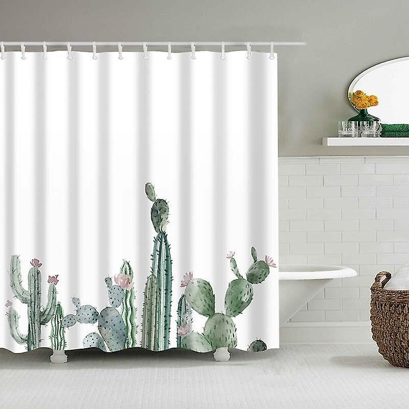 rideau de douche tropical cactus polyester tissu rideau de