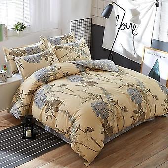 Klassische weiche Baumwolle Bettbezug, flache Bettwäsche und Kissenbezug Bettwäsche Set