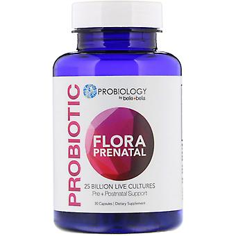 Belle+Bella, Probiology, Probiotic Flora Prenatal, 25 Billion CFU, 30 Capsules