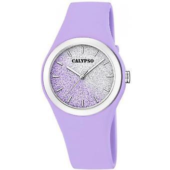 Calypso K5754-2 - Watch Armband Silikon Case Silikon lila Frau lila
