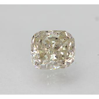 معتمد 1.12 قيراط J SI2 وسادة المحسن الطبيعية فضفاضة الماس 6.14x5.5mm