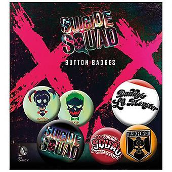 Suicide Squad Button Badge Set