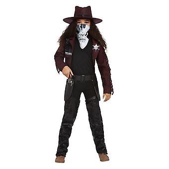 jenter mørk ånd western cowgirl fancy kjole kostyme